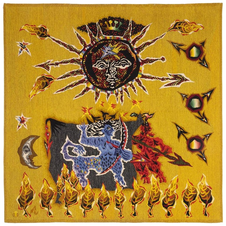 Jean Lurçat for Atelier Suzanne Goubely-Gatien Août Aubusson tapestry, 1939, offered by Boccara