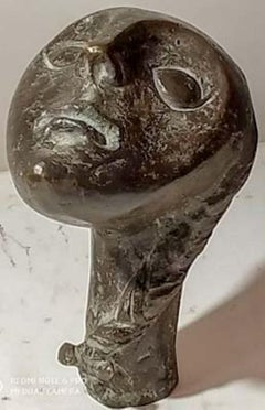 "Face, Bronze Sculpture by Contemporary Indian Artist ""In Stock"""
