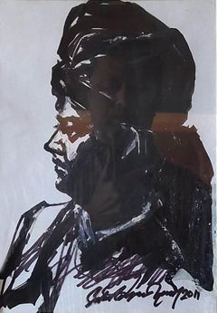 "Swami Vivekananda, Mixed Media on Paper by Contemporary Indian Artist ""In Stock"""