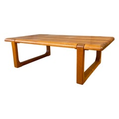 Niels Bach Substantial Solid Teak Coffee Table, 1970s