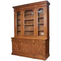 Substantial 19th Century Carved Oak Bookcase