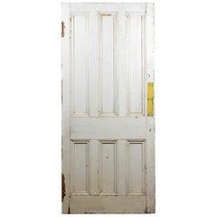 Substantial Beaded Six Panel Door, 20th Century