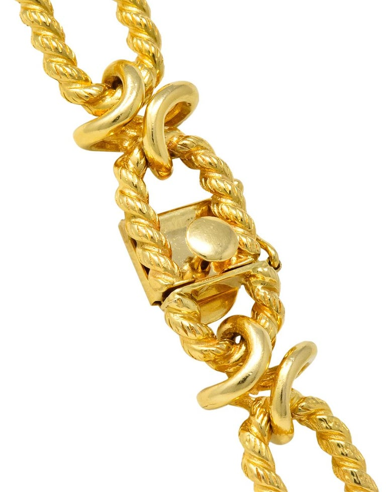 Substantial Contemporary 14 Karat Gold Necklace with ...