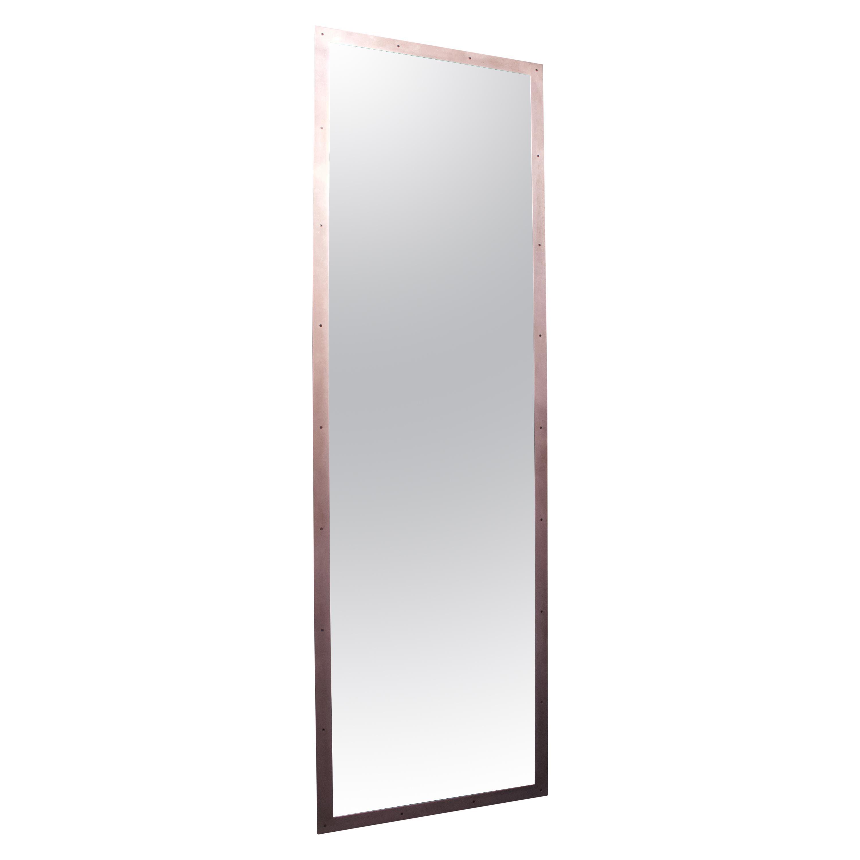 Substantial Contemporary Modern Industrial Steel Floor Mirror