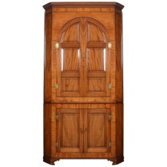 Substantial Country House Mahogany Corner Cupboard