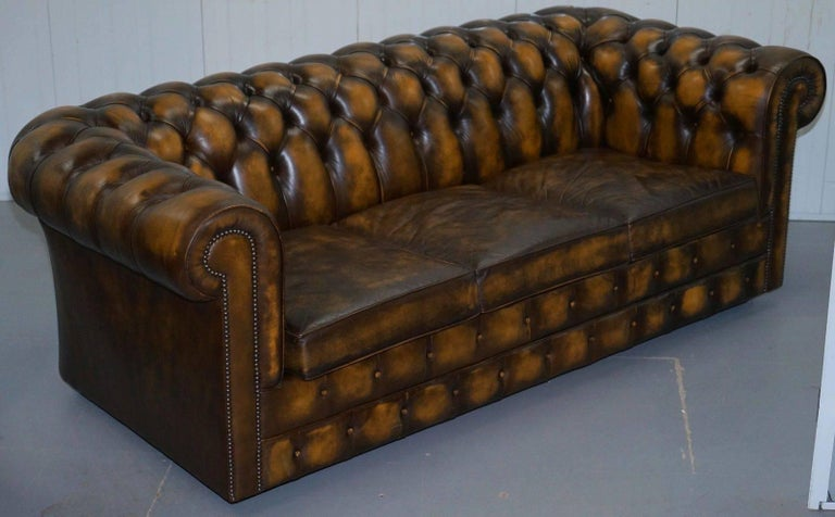 We Are Delighted To Offer For This Substantial Mill Brook Furnishings Hand Dyed Aged Brown