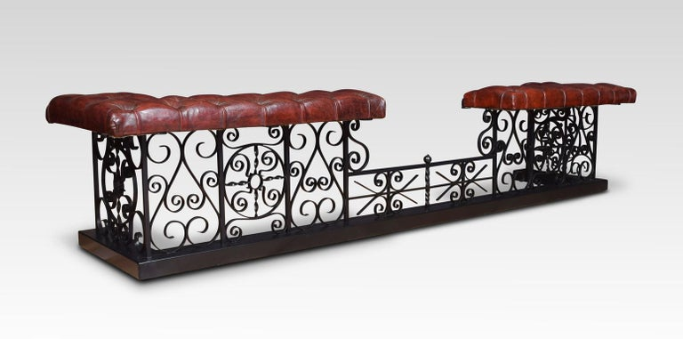 Substantial wrought iron club fender For Sale 4