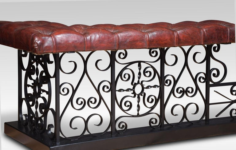 Substantial wrought iron club fender For Sale 5