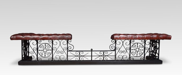 Substantial wrought iron club fender For Sale 1