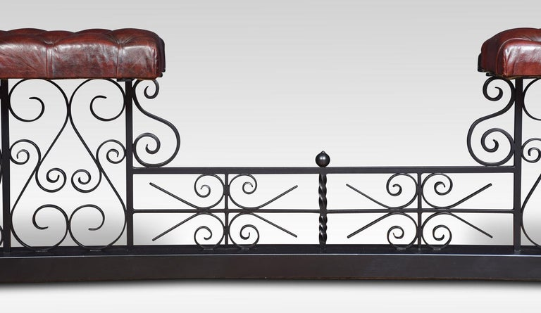 Substantial wrought iron club fender For Sale 2