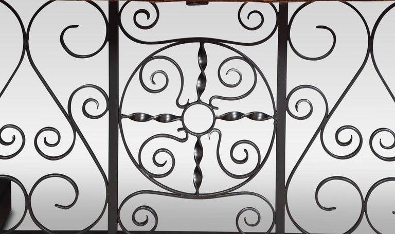 Substantial wrought iron club fender For Sale 3