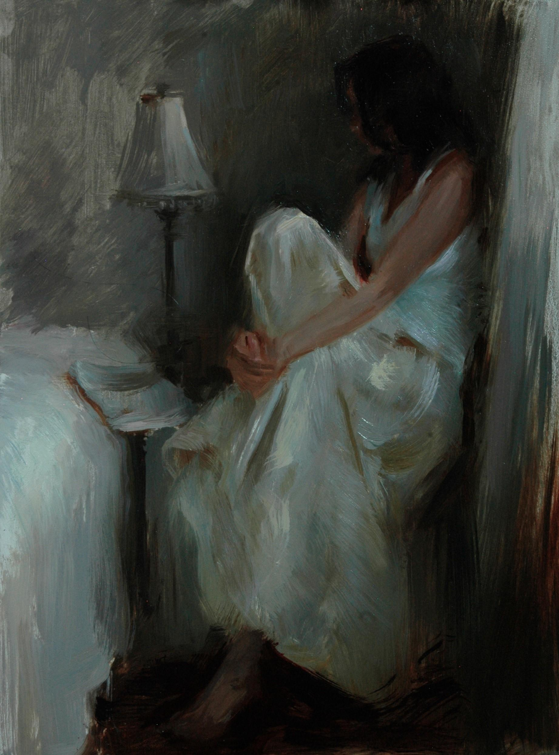 """""""A Moment in Time,"""" Oil Painting"""