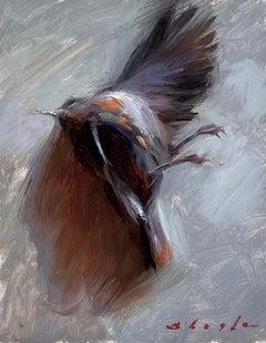 """""""Bird,"""" Oil Painting"""