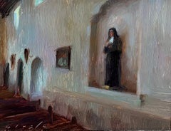 """""""Mother Mary at San Luis Obispo,"""" Oil Painting"""