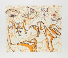Picnic, Lithograph by Sue Williams