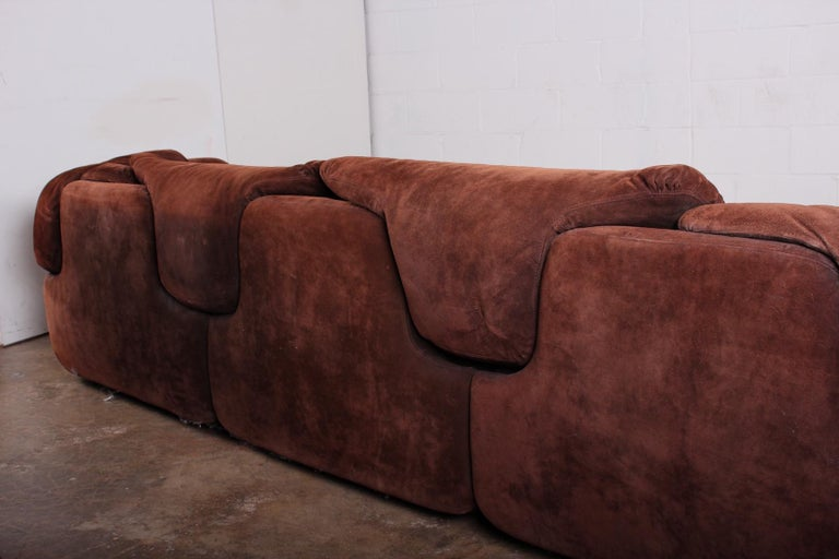 Suede Sectional Sofa by Alberto Rosselli for Saporiti 2