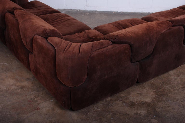 Suede Sectional Sofa by Alberto Rosselli for Saporiti 5