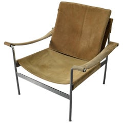 Suede Sling D99 Lounge Chair Armchair by Hans Koenecke for Tecta 1965 Lightbrown