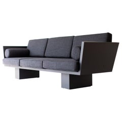 Suelo Modern Black Sofa