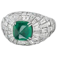 Sugarloaf Emerald and Diamond Cocktail Ring