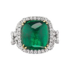 Sugarloaf Emerald and Diamond Ring by RayazTakat