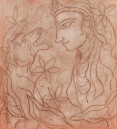 Durga- Indian goddess combating evils that threaten peace, prosperity and dharma