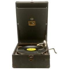 """Suitcase Gramophone """"La Voix de son Maître"""" 'His Master's Voice' Model HMV 101"""