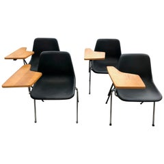 Suite of 4 Stackable Polypropylene Conference Chairs by Robin Day for Hille 1963
