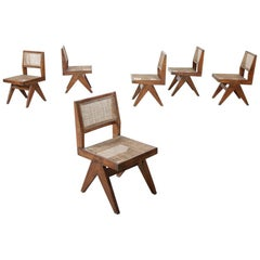 """Suite of 6 Chairs """"Dining Chairs"""" by Pierre Jeanneret '1896-1967'"""