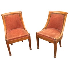 Suite of 8 Empire Style Chairs in Solid Cherrywood