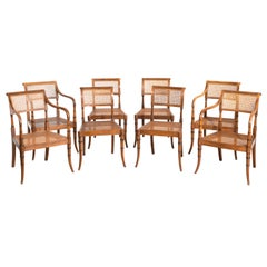 Suite of Eight Regency Period Mahogany Chairs