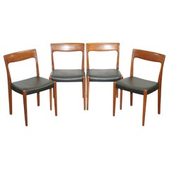 Suite of Four Original Svegards Markaryd Danish Dining Chairs with Teak Frames