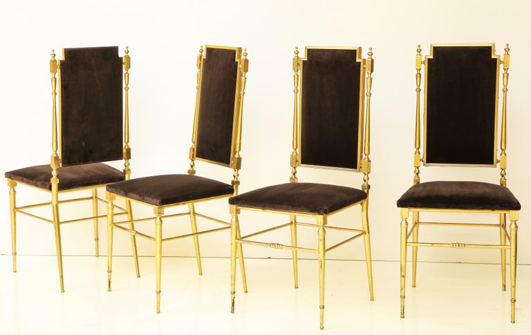 Rare square wing back unsual Chiavari set