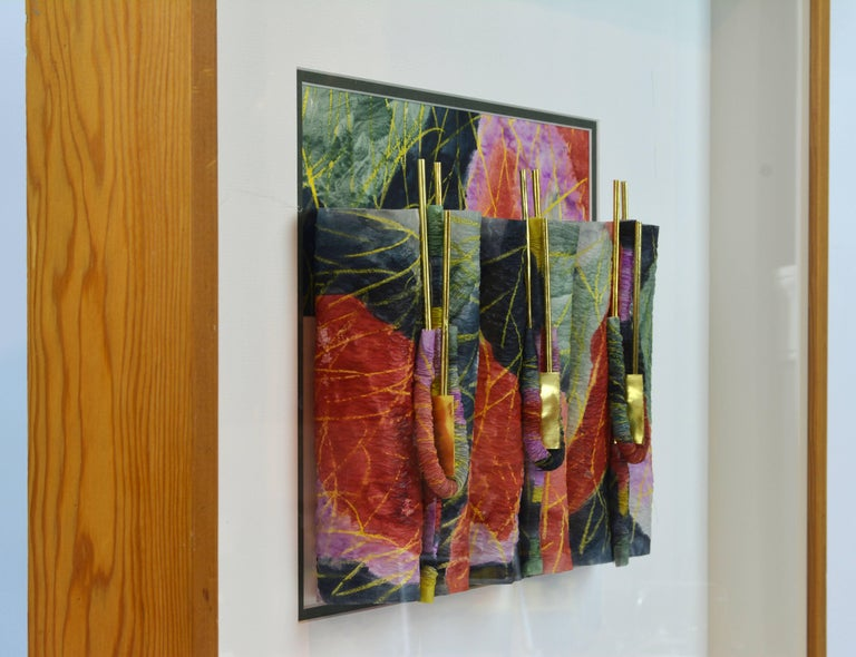 Suite of Four Wall Sculptures by Akiko Sugiyama, Noted Japanese/American Artist For Sale 8