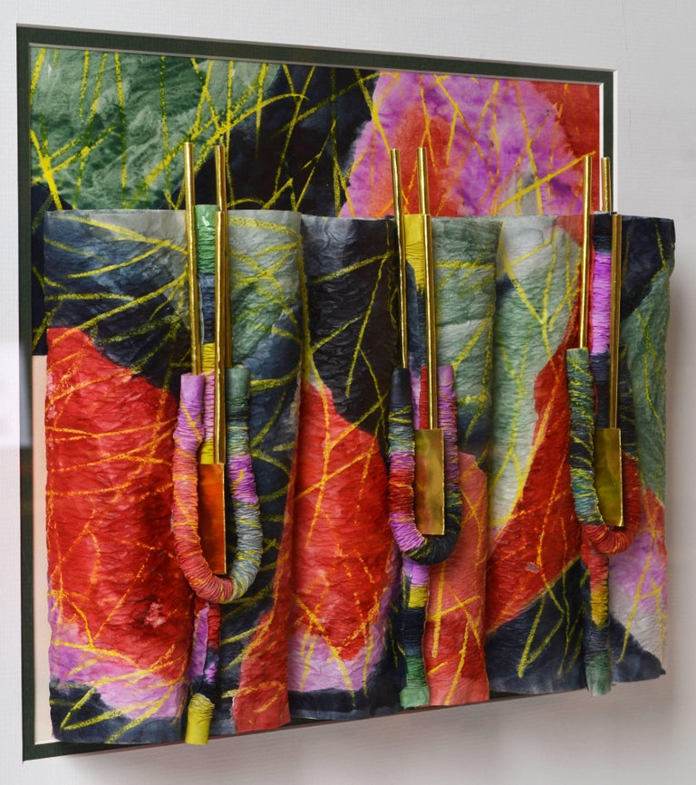 Suite of Four Wall Sculptures by Akiko Sugiyama, Noted Japanese/American Artist For Sale 1