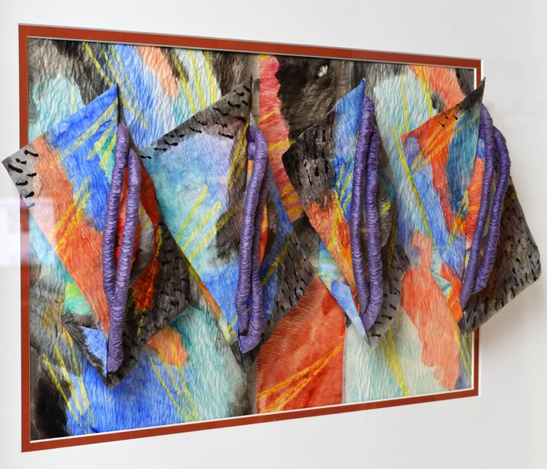 Suite of Four Wall Sculptures by Akiko Sugiyama, Noted Japanese/American Artist For Sale 3