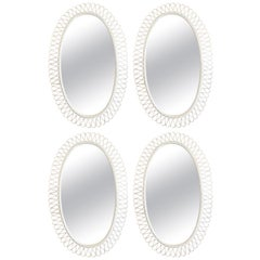 Suite of Four Wrought Iron Mirrors by Salterini