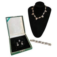 Suite of Georg Jensen Sterling and Moonstone Jewelry
