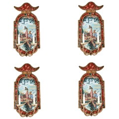 Suite of Italian, Chinoiserie Sconces