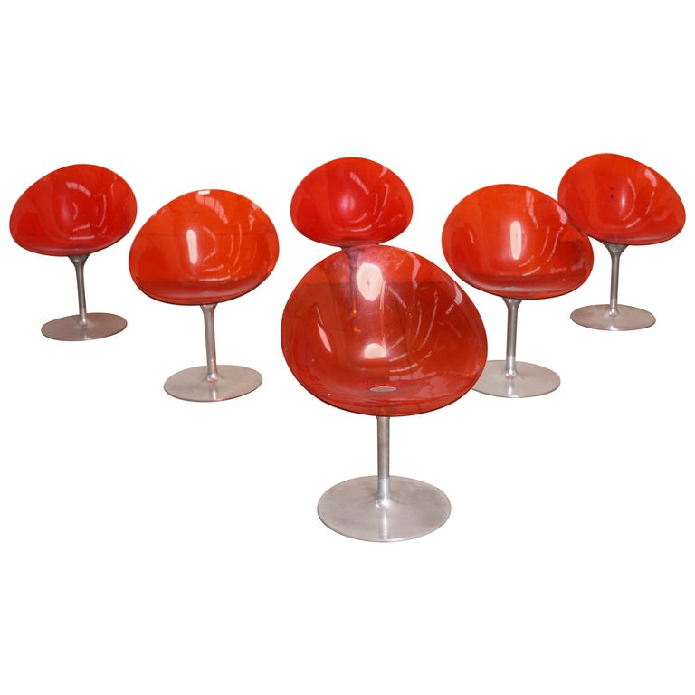 """Suite of Six """"Eros"""" Chairs by Philippe Starck For Sale"""