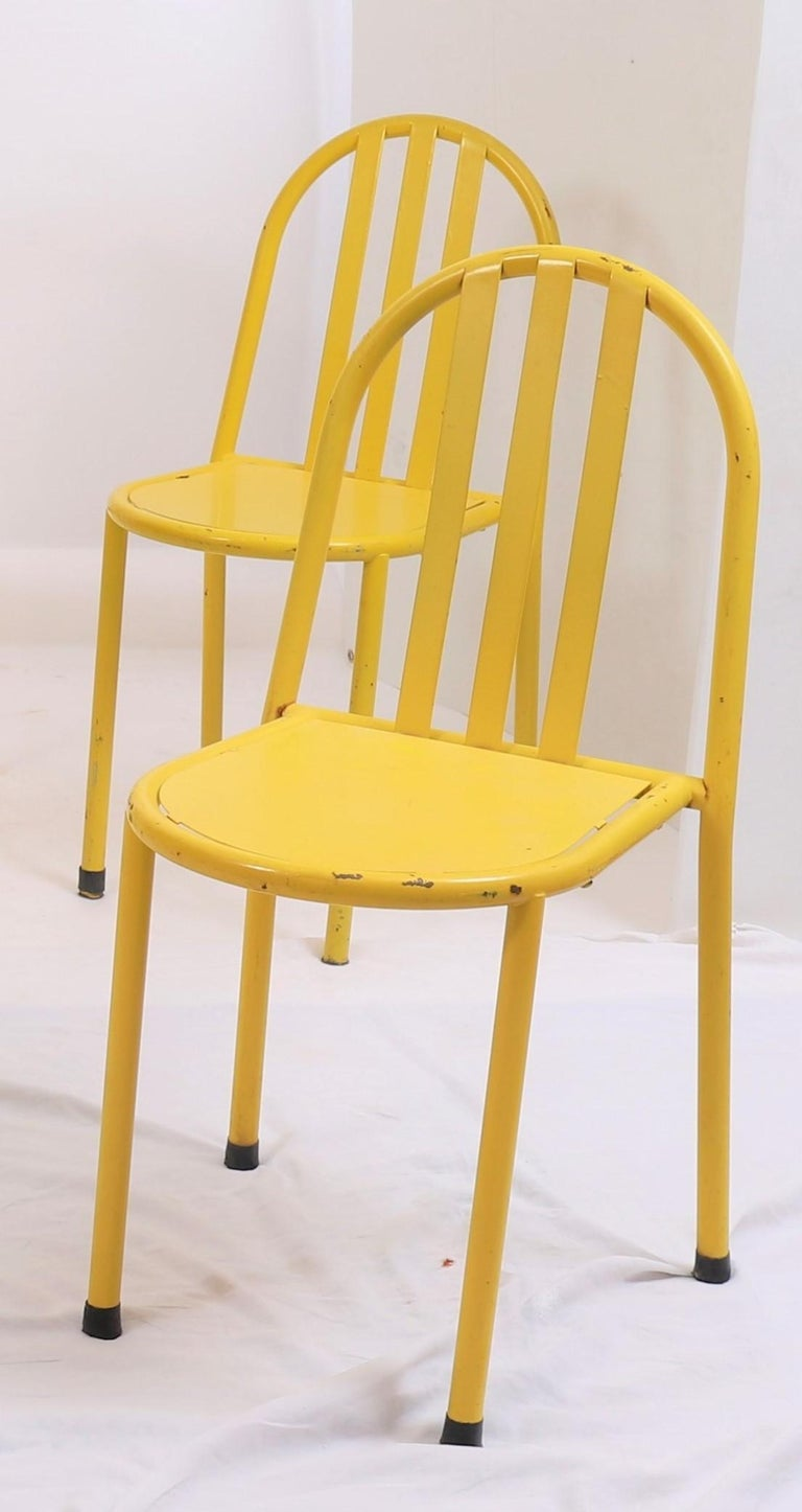 European Suite of Six Modernist Tubular Chairs by Robert Mallet-Stevens For Sale