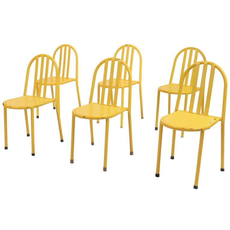 Suite of Six Modernist Tubular Chairs by Robert Mallet-Stevens For Sale