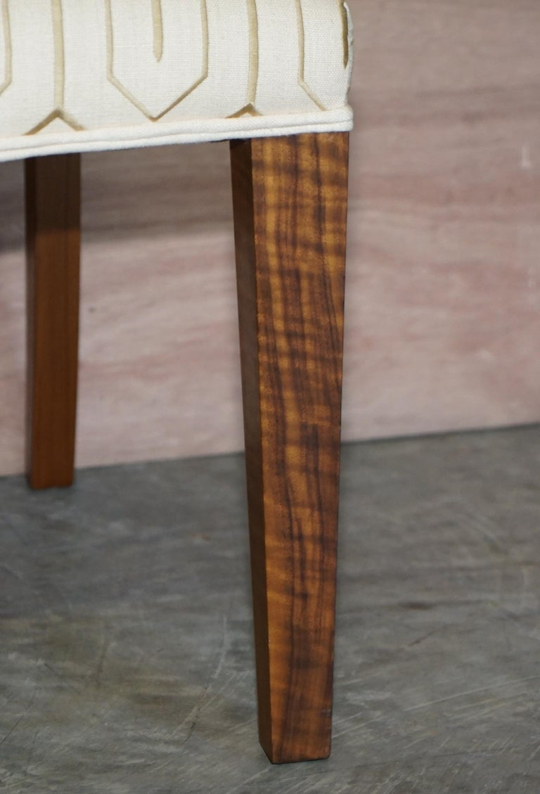 Suite of Six Premium Viscount David Linley American Walnut Dining Chairs 6 In Good Condition For Sale In , Pulborough