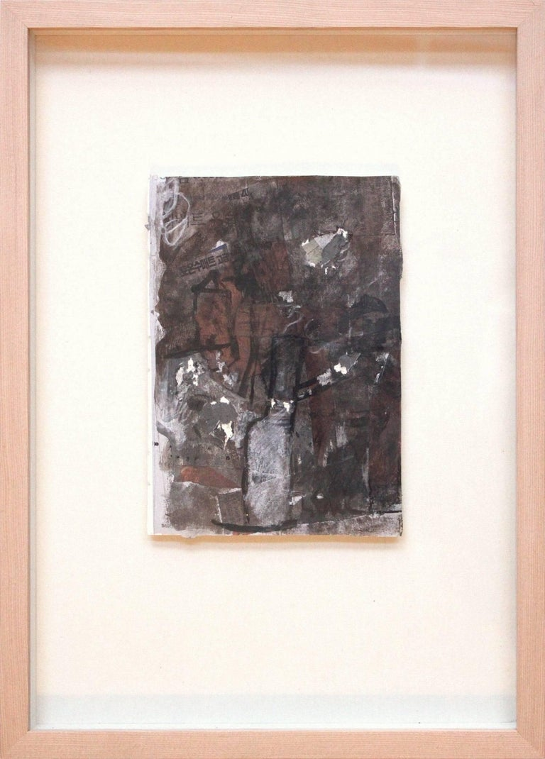 Suki Maguire Abstract Painting - Abstract Composition (Brown and Black)