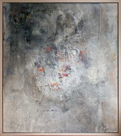 """""""Nature and Human Relationships – Embrace 3 –"""" Mixed Media Abstract Painting"""