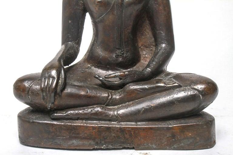 Sukothai Style Thai Bronze Seated Buddha For Sale 1