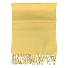 SULKA Solid Yellow Cashmere Scarf