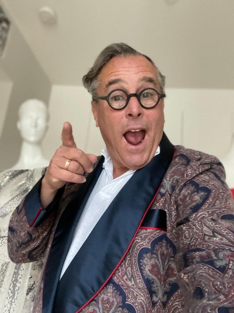 Sulka Unworn Bespoke Vintage Paisley Cashmere Silk Lined Smoking Evening Robe For Sale 7