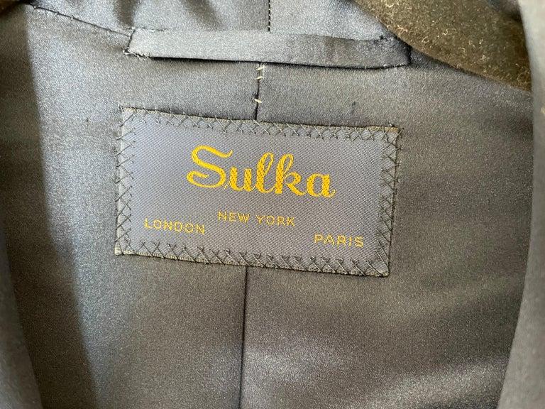 Sulka Unworn Bespoke Vintage Paisley Cashmere Silk Lined Smoking Evening Robe For Sale 3