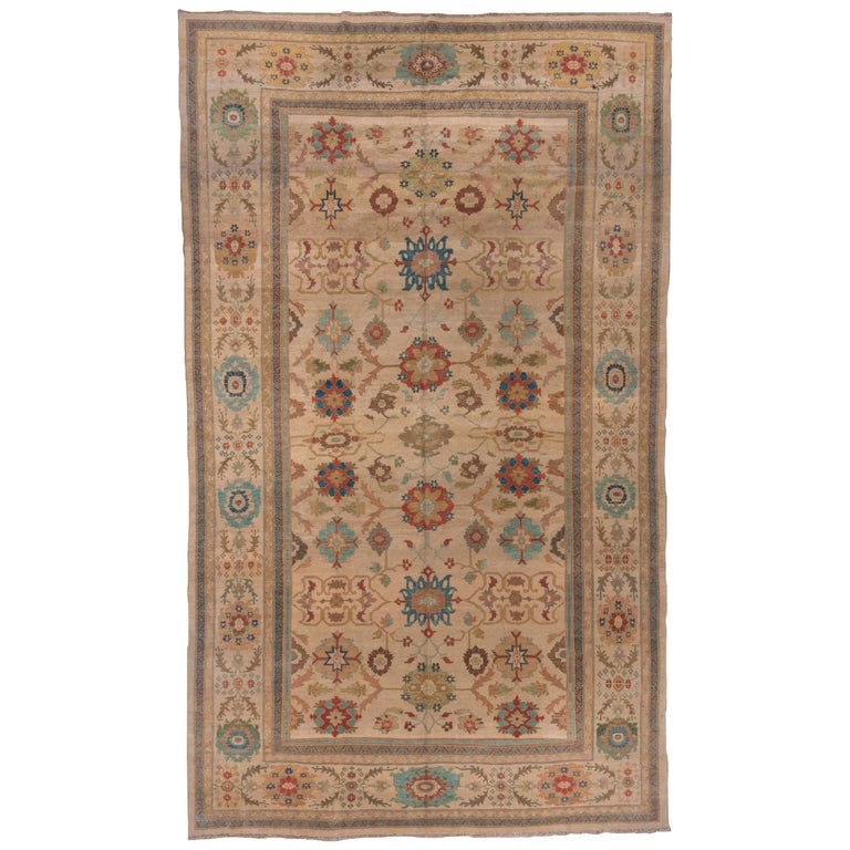 Pasargad Ny Persian Hand Knotted Wool Light Blue Ivory: Sultanabad Carpet, Handmade Wool Carpet For Sale At 1stdibs